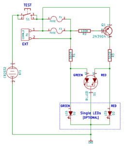 Simple Fuse Tester Schematic